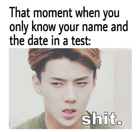 Funny Kpop Memes - exo sehun funny memes