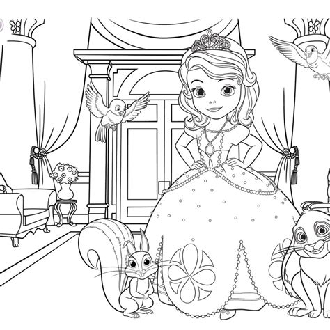 disney sofia coloring pages coloring pages