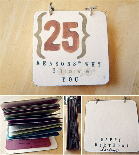 Handmade Birthday Gifts For Him - oh whimsical me diy gift for him 25 reasons why i you