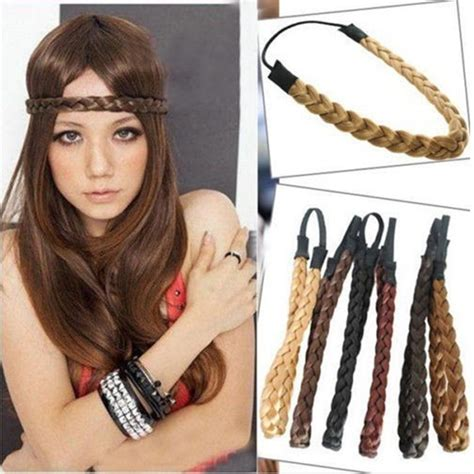 aliexpress buy mism new fashion synthetic hairpiece 48cm length wigs headband