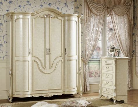White French Provincial Bedroom Set | french provincial white carved home furniture bedroom set