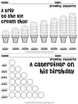 growing pattern kindergarten math growing patterns 2 complete mini lessons math