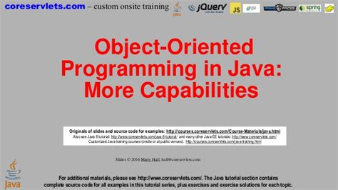 Tutorial Java Object Oriented Programming | java 8 programming tutorial object oriented programming
