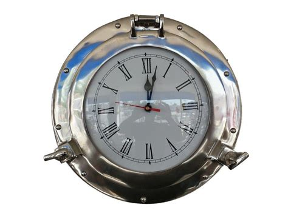 chrome theme clock buy chrome decorative ship porthole clock 12 inch