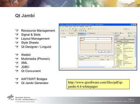 qt jambi tutorial pdf java gui toolkits swing vs swt vs jambi