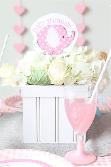 baby shower place settings elephant themed baby shower