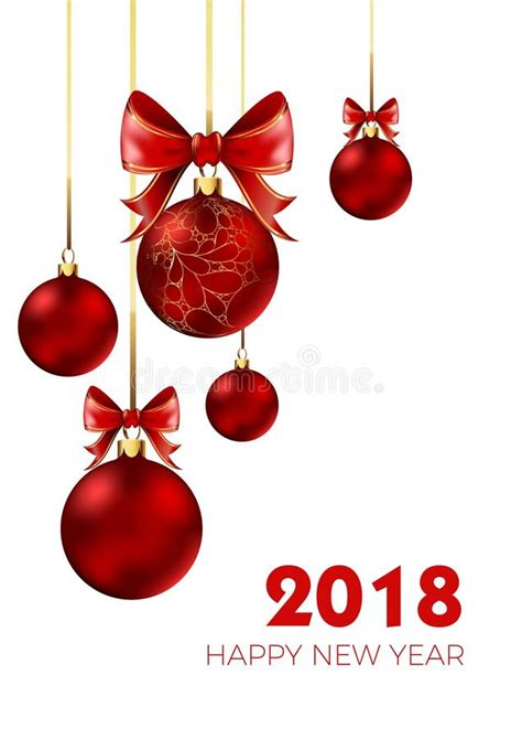 new year 2018 ornaments happy new year 2018 and bow decoration