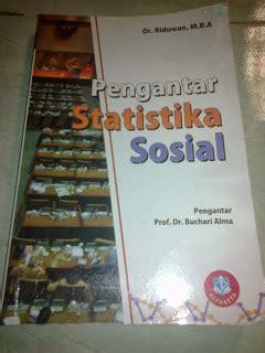 Pengantar Statistika Sosial Riduwan Buku Statistik Penelitian B gudang buku bekas sosiologi