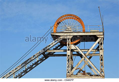 design brief of mine headgear pulley wheel stock photos pulley wheel stock images alamy