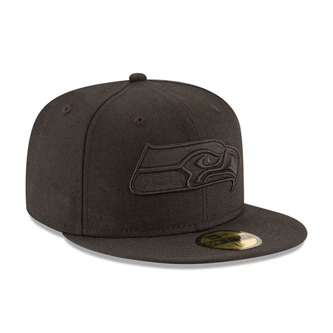 new era black on black seattle seahawks black on black 59fifty new era