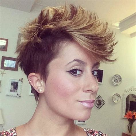 edgy pixie brown with blonde highlights 70 pixie cut ideas for 2017 short shaggy spiky edgy