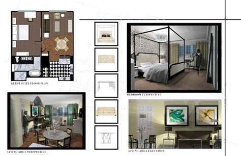 interior design projects for students id portfolio westin hotel project guest suite design