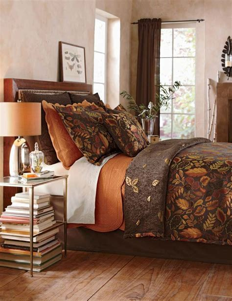 chagne coverlet giving your room a fall makeover is easy when you add fall