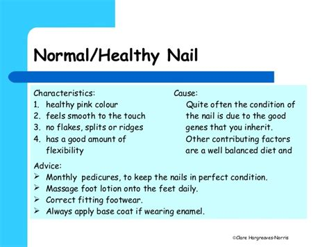 appearance of a 58 female normal skin pedicure nail and skin analysis