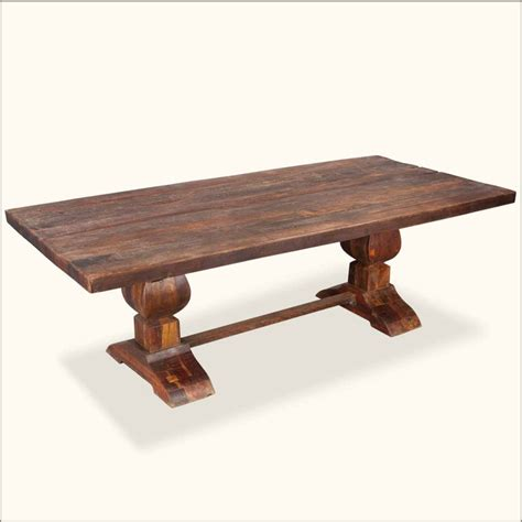 large rustic reclaimed wood double trestle pedestal dining 17 best images about rustic wood furniture on pinterest