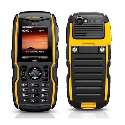 sonim rugged phone sonim xp strike rugged gps push to talk phone sprint excellent condition used cell phones