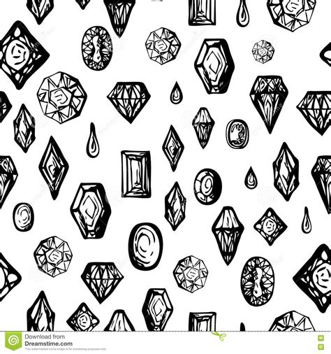 free doodle pattern vector background with doodle diamonds stock vector image 74297433