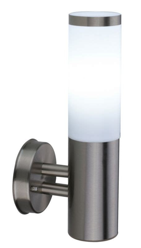 B Q Cano Outdoor Wall Light In Stainless Steel Wall Light B And Q Outdoor Lights