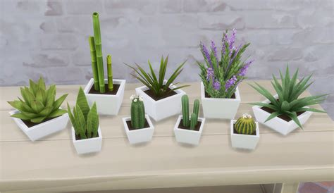 empire sims 3 3 small potted plants by lisen801 kiki plants by veranka teh sims