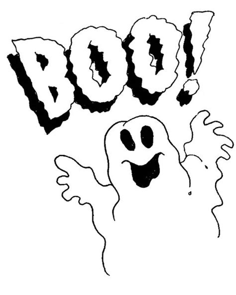 Ghost Boo Coloring Page | ghost saying boo cliparts co