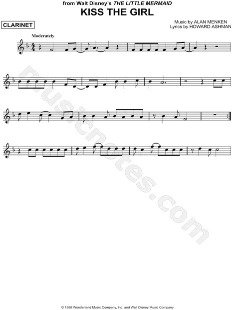 printable lyrics to kiss the girl quot kiss the girl quot from the little mermaid sheet music
