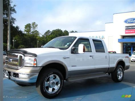 Ford F250 King Ranch by 2006 Oxford White Ford F250 Duty King Ranch Crew Cab