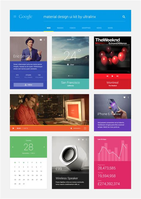 ui pattern psd top 10 free material design psd templates and ui kits