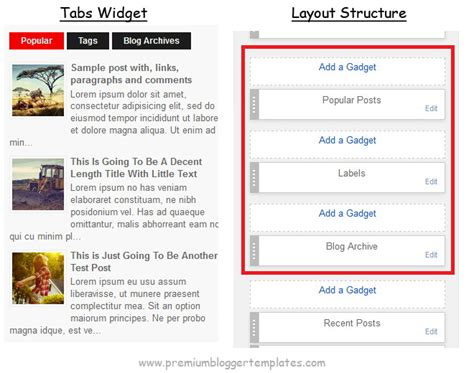 how to configure blogger tabs widget premium blogger