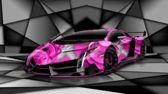 Pink Lamborghini Veneno Lamborghini Veneno Aerography Car 2014 El Tony