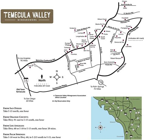 map of temecula temecula valley wine tours local and friendly one