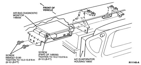 airbag deployment 2003 ford escape engine control i need to know the location of the airbag module on a 1996 97 ford taurus also i need to know
