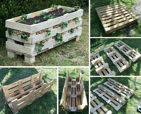 How To Make A Strawberry Planter Out Of A Pallet by Diy Vertical Pallet Strawberry Planter
