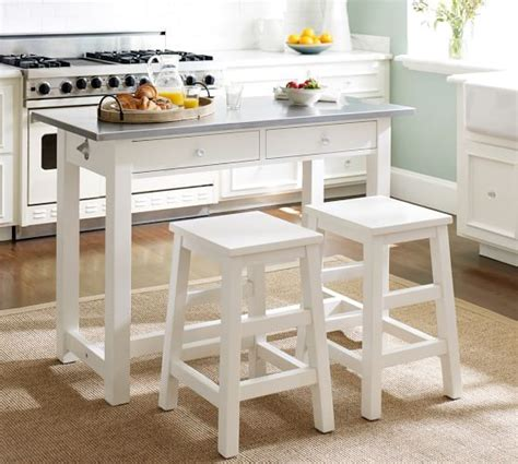 Table Height Stools Kitchen Balboa Counter Height Table Stool 3 Dining Set Pottery Barn