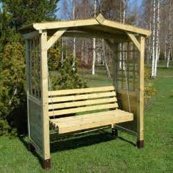 arbours arches garden seating timber swing seats trellis