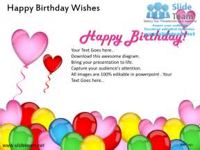 Happy Birthday Wish For Happy Birthday Wishes Powerpoint Ppt Slides
