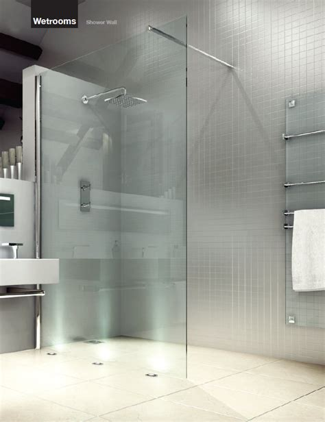 Glass Shower Doors And Walls Merlyn 8 Series Wetroom Clear Glass Shower Wall 800mm