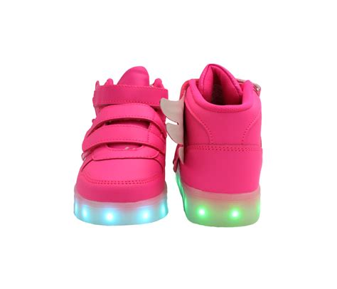 sneakers original led pink led shoes pink wings led sneakers unisex shoes