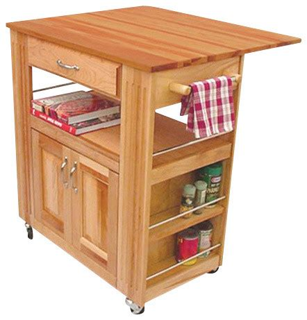 cuisine butcher block kitchen island cart with drop leaf catskill craftsmen heart of the kitchen butcher block cart
