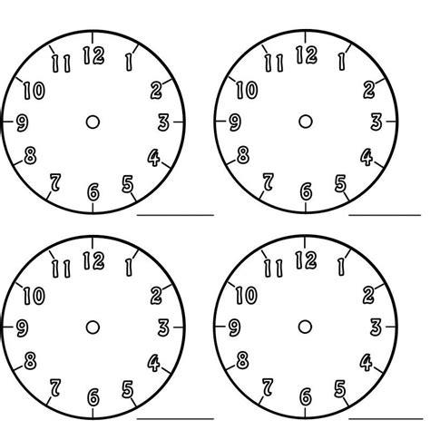 Kostenlose Vorlage Uhr Kostenlose Malvorlage Uhrzeit Lernen Arbeitsblatt Nr 1 Zum Ausmalen