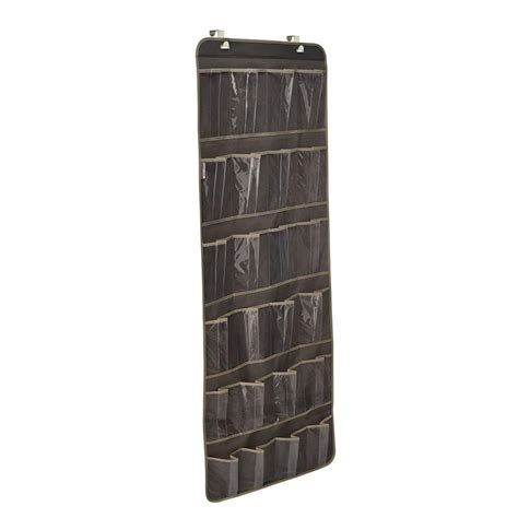 door shoe organizer closetmaid 24 pocket over the door shoe organizer in gray 31496 the home depot