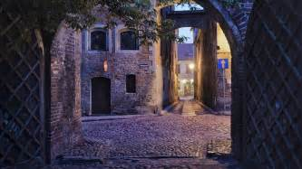 Towns In Usa alleys of the medieval old town in the evening torun
