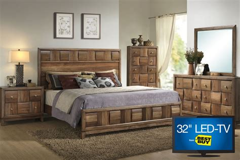 32 inch tv bedroom samba queen bedroom set with 32 quot led tv at gardner white