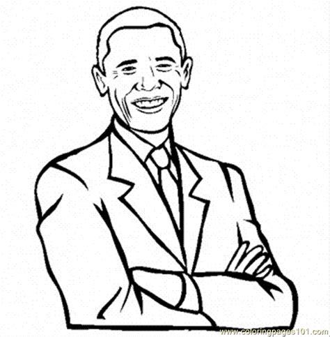Coloring Pages Barack Obama Peoples Gt Politics Free Barack Obama Coloring Page