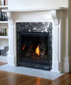 Glass Mosaic Fireplace Surround Glass Mosaic Fireplace Surround My Remodel