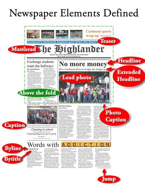 layout elements newspaper 27 best images about school escribir noticias on