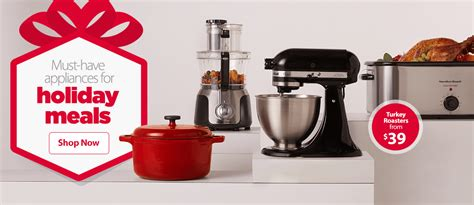 walmart small kitchen appliances must have appliances for holiday meals