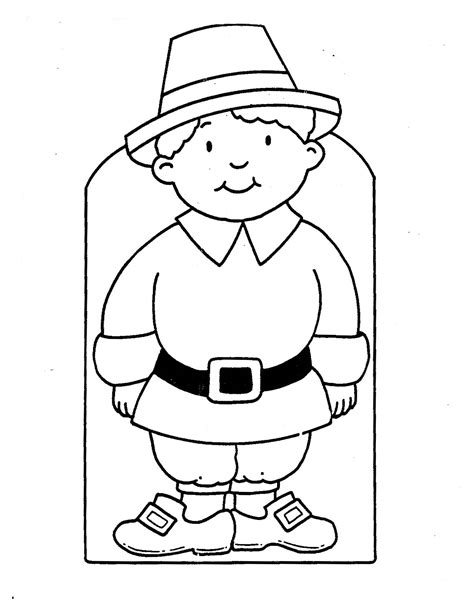 a pilgrim girl coloring pages
