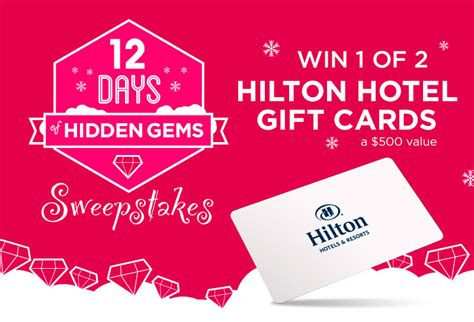 Hotels Com Combine Gift Cards - unwrap the 5th hiddengemsapp for a chance at a 500 hilton gift card sponsored