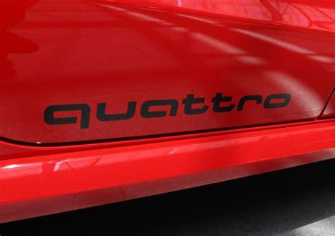 Audi Sport Aufkleber Original by Audi Original Aufkleber Set Quot Quattro Quot In Florettsilber
