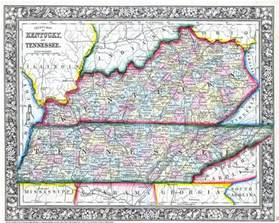 us map kentucky tennessee file 1862 mitchell map of kentucky and tennessee